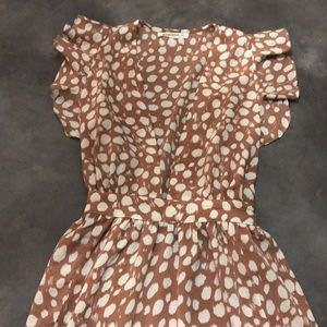 "ASOS brown poka dot ""Tall"" dress"
